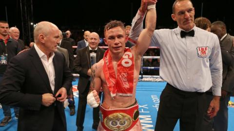 Belfast's Carl Frampton beat Spaniard Kiko Martinez to win the IBF world super bantamweight title in front of thousands of spectators at Titanic Quarter in September