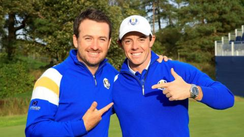 Graeme McDowell and Rory McIlroy were part of the Europe team which retained the Ryder Cup by beating the USA at Gleneagles