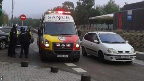 Ambulance at Atletico Madrid