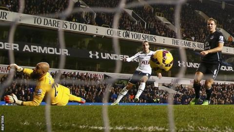 Roberto Soldado scores for Spurs