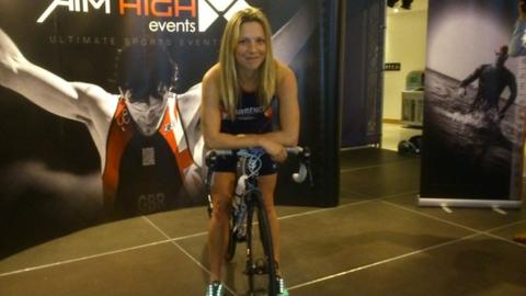 Wales triathlete Holly Lawrence hopes to compete in the first Cardiff Triathlon in June 2015