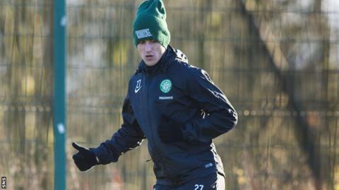 Aleksandar Tonev in training for Celtic