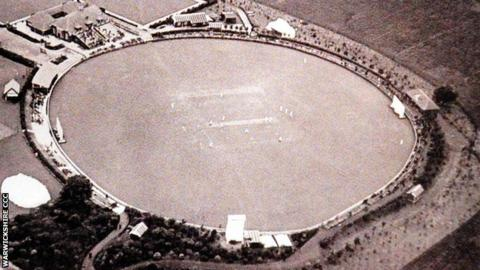 Overhead view of Warwickshire's former home at Portland Road