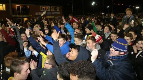 Warrington Town fans