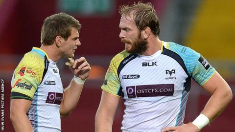 Ospreys and Wales pair Dan Biggar and Alun Wyn Jones
