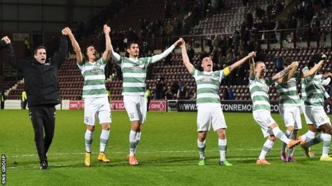 Celtic were 4-0 winners at Tynecastle on Sunday