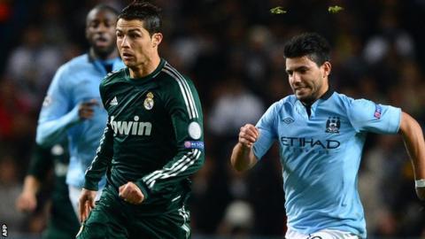 Cristiano Ronaldo and Sergio Aguero