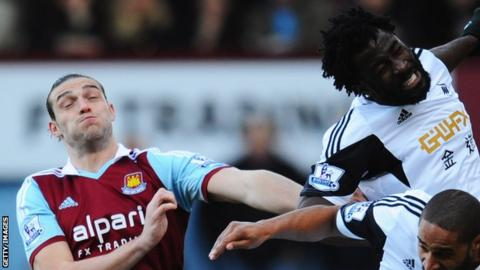 Andy Carroll and Wilfried Bony