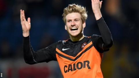 Stuart Armstrong scored Dundee United's second in between Nadir Ciftci's double.