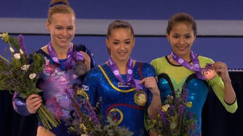 Oleg Verniaiev & Larisa Iordache retain World Cup gymnastics titles