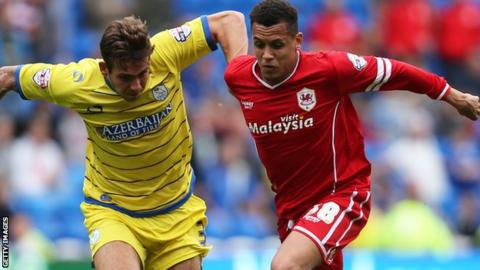 Cardiff City have won only two of the seven matches Ravel Morrison (R) has played for them