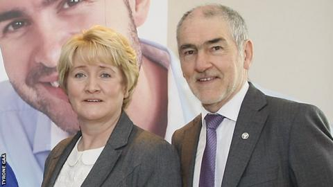 Roisin Jordan and Mickey Harte
