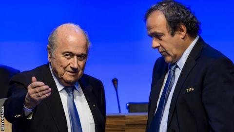 Fifa president Sepp Blatter (left) and Uefa president Michel Platini