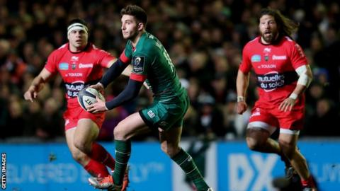 Owen Williams scored 20 points for Leicester in their Euro win over Toulon