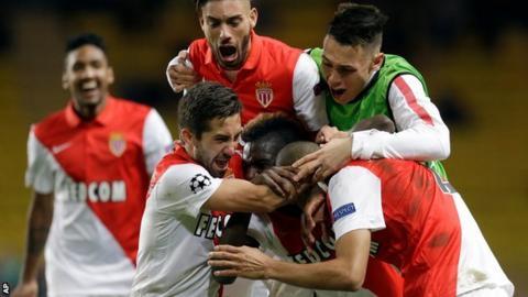 Monaco celebrate beating Zenit