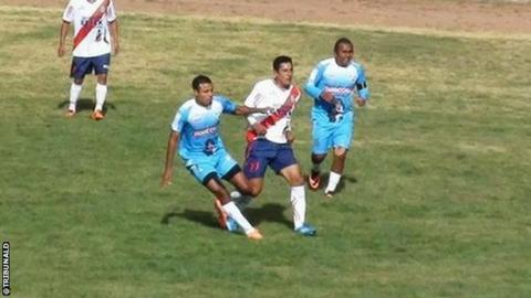 Sport Aguila take on Union Fuerza Minera in the Copa Peru semi-final