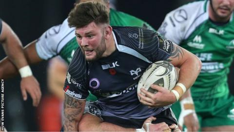 Ieuan Jones in action for Ospreys