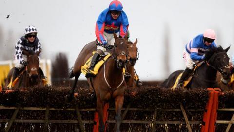 Splash Of Ginge winning at Newbury in February