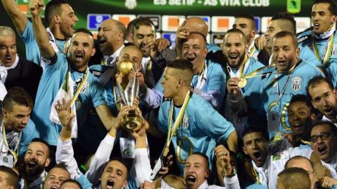 Entente Setif celebrate winning the African Champions League