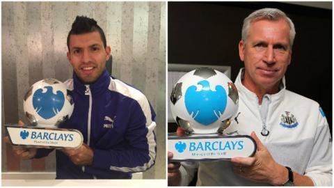 Sergio Aguero and Alan Pardew