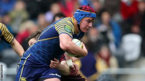 Hugh Blake in action for Otago