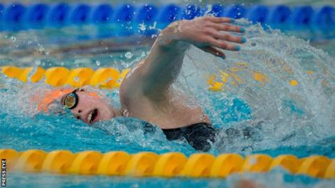 "Antionette Neamt won the ""Swimmer of the Meet"" award in Lisburn"