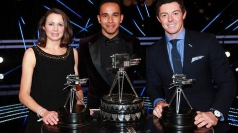 Lewis Hamilton wins Sports Personality of the Year, with Rory McIlroy second and Jo Pavey third