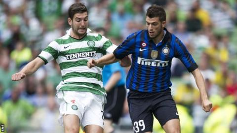 Celtic faced Inter Milan in the Dublin Cup in 2011