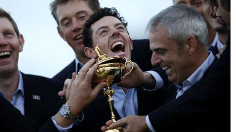 Rory McIlroy was part of the European team that successfully defended the Ryder Cup at Gleneagles in Scotland