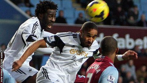 Wilfried Bony and Ashley Williams