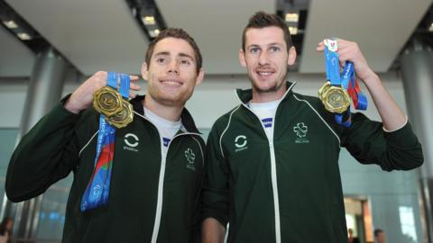 Paralympians Jason Smyth and Michael McKillop were double gold medallists at the IPC European Championships in Swansea