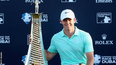 McIlroy has won the European Player of the Year trophy twice in the last three years