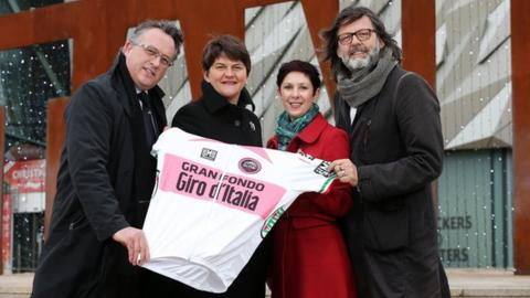 News that the Gran Fondo is to be held in Northern Ireland for the next three years was announced at the Titanic Building in Belfast.