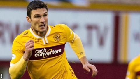 Motherwell striker Chris Sutton