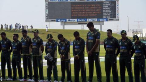 Pakistan's team against New Zealand