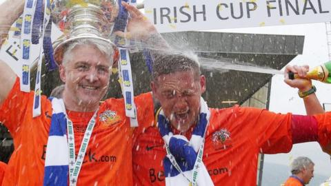 Glenavon beat Ballymena in the 2014 Irish Cup final