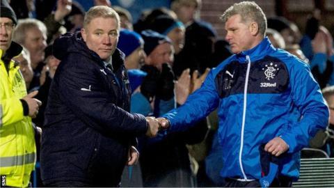 Ally McCoist and coach Ian Durrant
