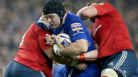 Mike Ross made his competitive Leinster debut against the Scarlets in September 2009