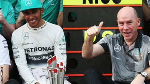 Lewis Hamilton and Jock Clear