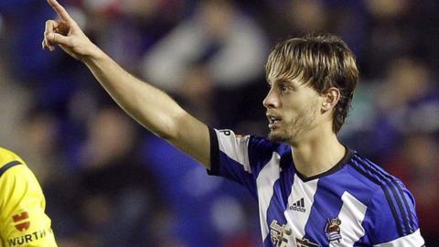 Real Sociedad's Sergio Canales