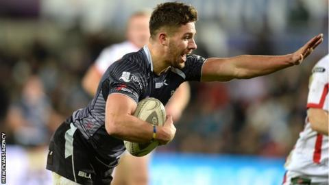 Rhys Webb goes over