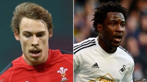 Liam Williams and Wilfried Bony