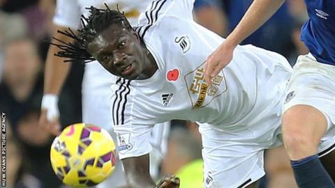 Bafetimbi Gomis joined Swansea on a free from Lyon in June 2014 on a four-year deal
