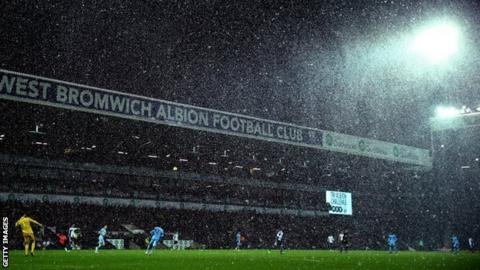 Heavy snow at The Hawthorns