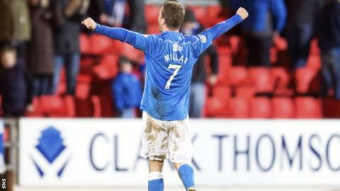 Tommy Wright revealed St Johnstone match winner Chris Millar has a goal bonus in his contract