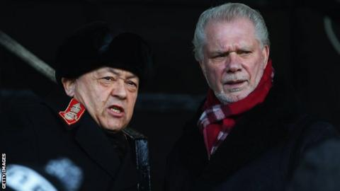 West Ham co-owners David Sullivan (left) and David Gold