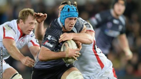 Flanker Justin Tipuric has made 94 appearances for Ospreys since his debut in the 2009-10 season