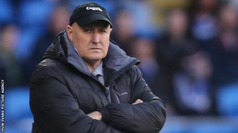 Cardiff City manager Russell Slade looks on as his team lose to Watford