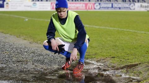 Glenavon player Rhys Marshall at Mourneview Park