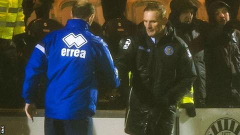Kilmarnock manager Allan Johnston and St Mirren boss Gary Teale